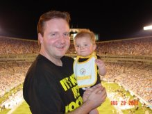 My Son's First Steelers Game @ 7 Months Old